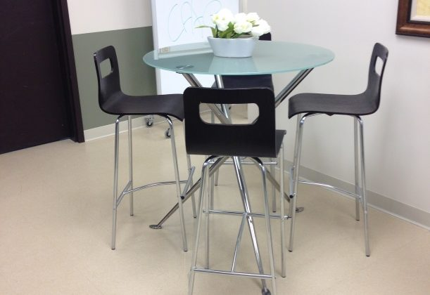 used breakroom table and chairs